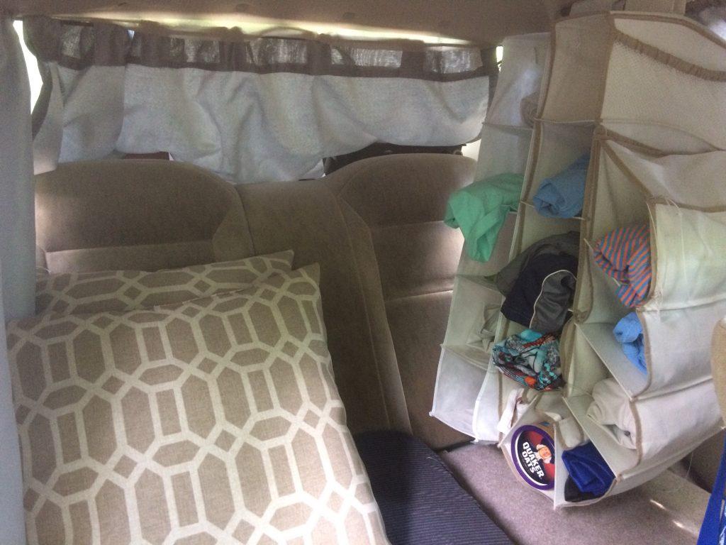 Car Camper Back Seat