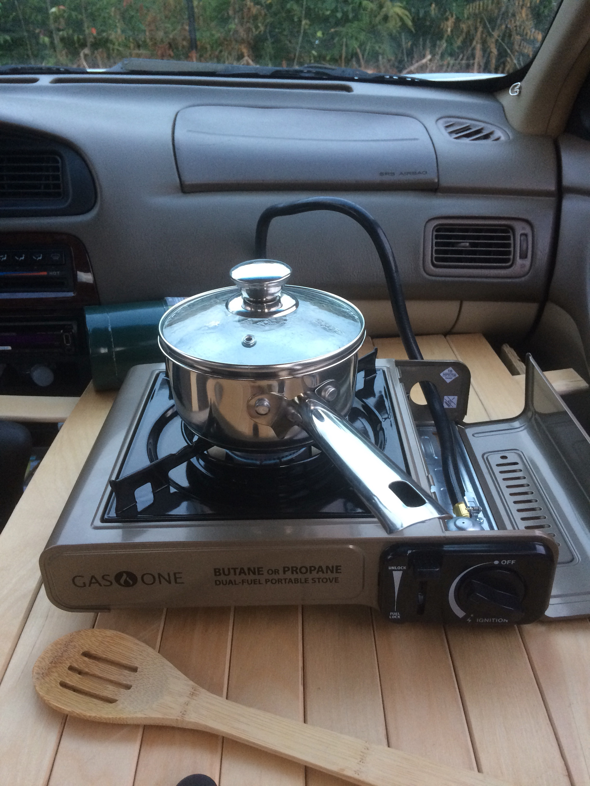 cooking in car